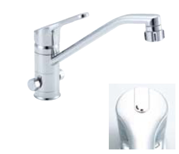 *INAX* キッチンシャワー付シングルレバー混合栓[分岐口付] クロマーレ[エコハンドル] SF-HB442SYX[N]B