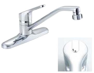 *INAX* キッチン用[キッチンシャワー付] シングルレバー混合栓 クロマーレ[エコハンドル] SF-HB434SY[N]