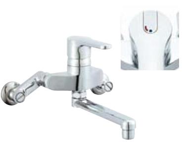 *INAX* キッチン用 シングルレバー混合栓 クロマーレ[エコハンドル] 壁付タイプ SF-HB435SYN[170] 寒冷地