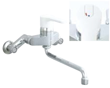 *INAX* キッチン用 シングルレバー混合栓 ノルマーレ[エコハンドル] 壁付タイプ SF-HE435SYN[170] 寒冷地