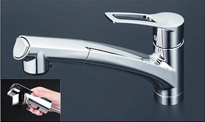 *KVK水栓金具* キッチン 流し台用シングルレバー式シャワー付混合栓 KM5021ZTCK 寒冷地用【送料・代引無料】