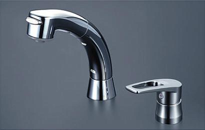 *KVK水栓金具* 洗面用シングルレバー式洗髪シャワー KM5271ZTS2 寒冷地用【送料・代引無料】