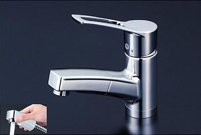 *KVK水栓金具* 洗面用シングルレバー式混合栓 KM8001T 一般地用【送料・代引無料】