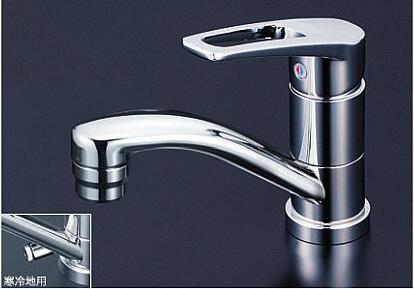 *KVK水栓金具* 洗面用シングルレバー式混合栓 KM7011T/KM7011ZT【送料・代引無料】