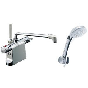 *INAX*BF-B646TSCW[300]-A100 サーモスタット付シャワーバス水栓エコフルスイッチシャワー[メッキ仕様] 【送料・代引無料】