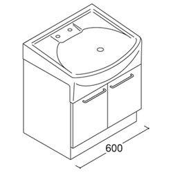 *トクラス*YTAQ060AS[W/P][SGJ1/SGG1/SGW1] 洗面化粧台 jolie ベースキャビネット 開き扉タイプ 間口600mm