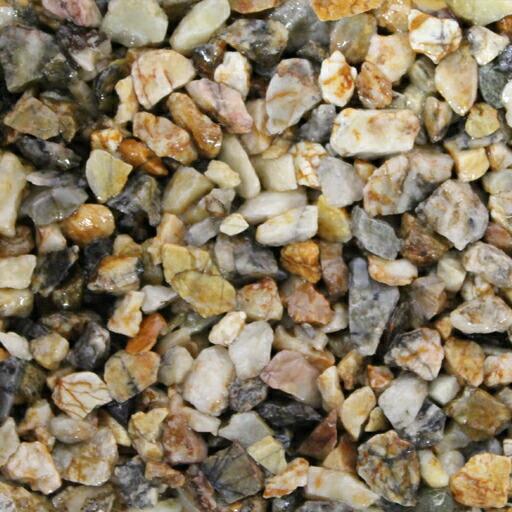 乾燥砂利 錦(にしき)(20kg)(10袋セット)マツモト産業[エクステリア用材] [送料無料]