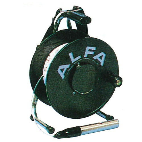 【送料無料】ロープ式水位計 TYPE1 1-100B 100m/2.6kg アルファ光学