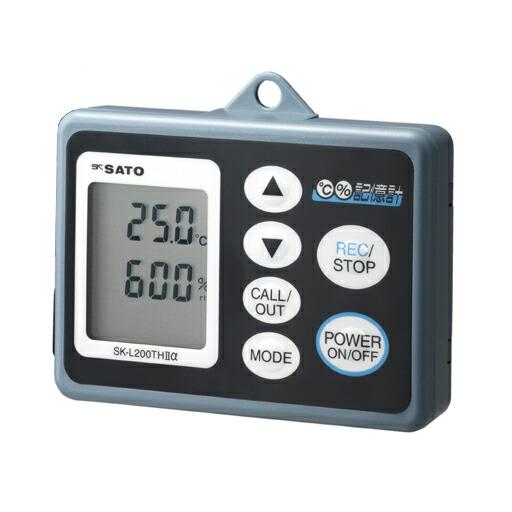 データロガー 記憶計 SK-L200TH2α(温湿度タイプ) SK-L200TH2αD 乾電池又はACアダプタ 佐藤計量器 [送料無料]