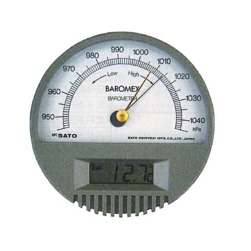 【送料無料】バロメックス気圧計 7612 1hpa 佐藤計量器