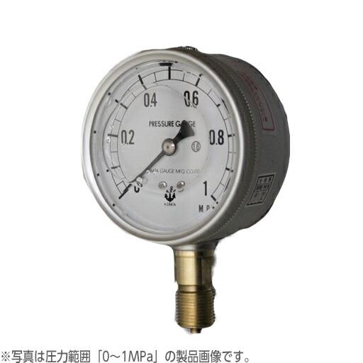 【送料無料】木幡計器製作所 グリセリン入圧力計 φ75 AU 3/8 75 (0-100MPa)