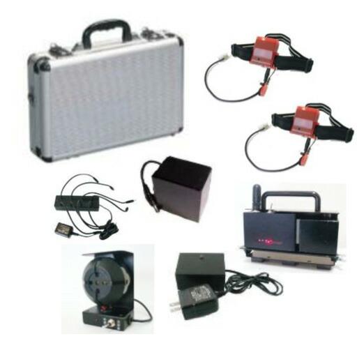作業員装着感知警報システム ローラー用メットセンサー 基本セット 山栄産業