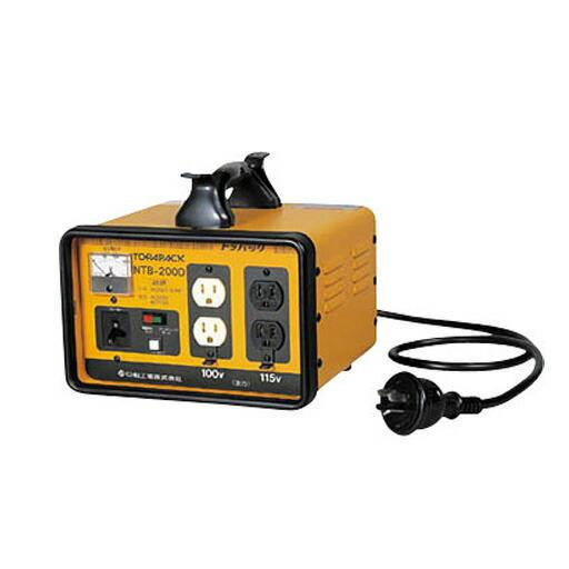 日動工業 降圧専用トランス 屋内型 NTB-200D 単巻トランス(連続定格) 安全ブレーカ付 [送料無料]