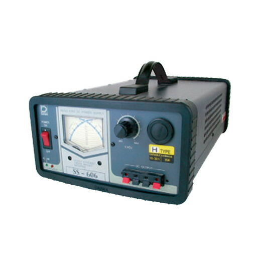 【送料無料】日動工業 直流安定化電源装置 SS-606H AC95-132V→DC10-30V 屋内型