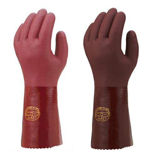 裏布付きロングタイプ手袋 ビニローブ421,423 (120双入) NO421_423 ショウワグローブ [送料無料]