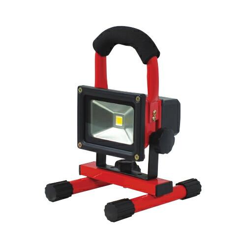 充電式LEDチャージライトミニ 5W 本体色:赤 BAT-5W-L1PS-R 日動工業 [送料無料]