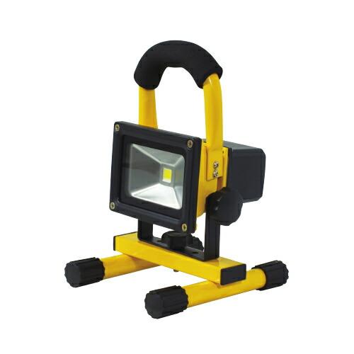 【送料無料】充電式LEDチャージライトミニ 10W 本体色:黄 BAT-10W-L1PS-Y 日動工業