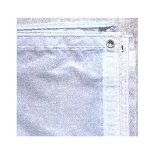 防炎メッシュシート 3.6m×5.4m (5枚セット) (白/灰) [送料無料]