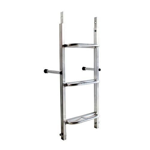 垂直アルミステップ 連結部 1.0m 連結ピン付 ホーシン