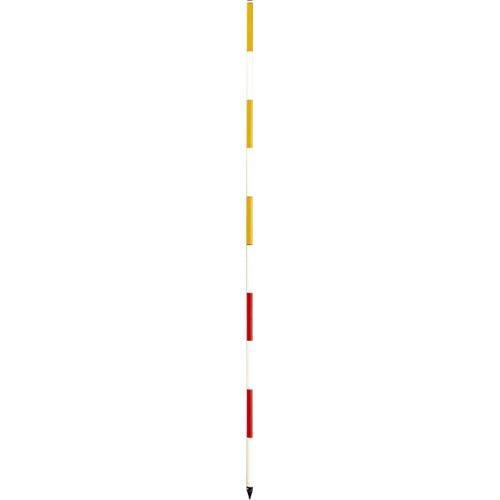 【送料無料】反射ポール 直2m 黄/白タイプ 20本セット RP-22Y 大平産業