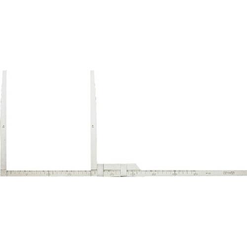 ステンレスはさみ尺 測定範囲 1m・副尺長さ 58cm TCS-100 [送料無料]
