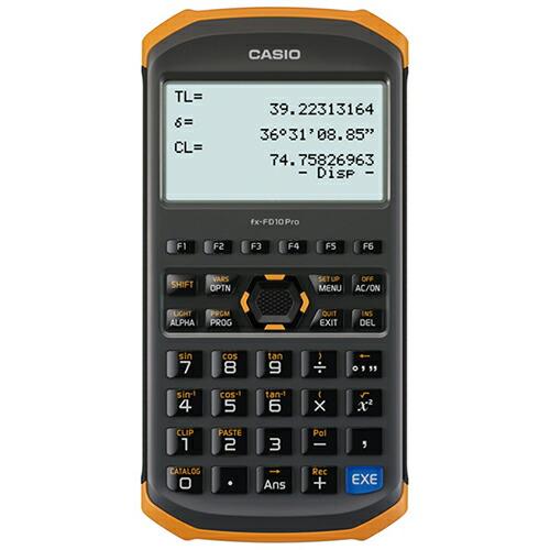 土木測量専業電卓 土木用 fx-FD10 Pro