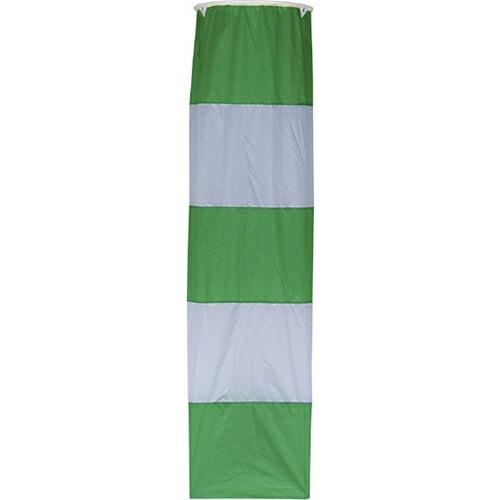 吹き流し 緑白 φ500×2m FKN-500 [送料無料]