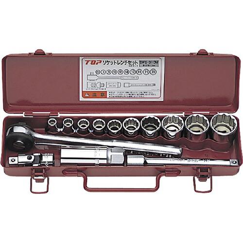 ソケットレンチセット 12角サーフェイス差込角9.5mm(3/8inch) SWS-310M