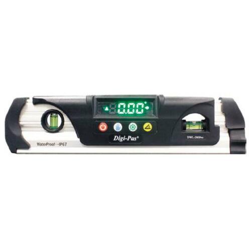 【送料無料】防水型デジタル水平器 防水仕様IP67 DWL-280Pro アカツキ製作所