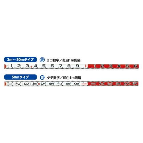 紅白ロッド60巾 50m テープのみ HK6-50T 表ヨコ1m/裏タテ1m紅白 HK6-50T ハイビスカス