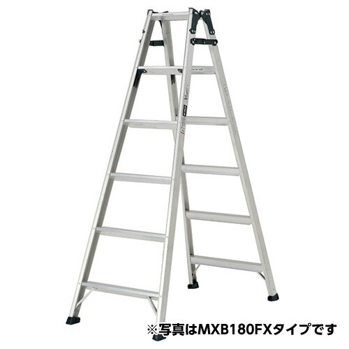【送料無料】ステップ幅広 はしご兼用脚立 天板の高さ:0.52m MXB60FX アルインコ