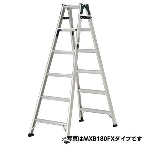 ステップ幅広 はしご兼用脚立 天板の高さ:1.99m MXB210FX アルインコ [送料無料]
