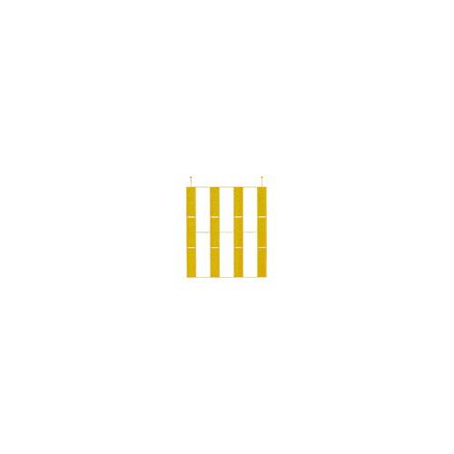 点字ユニット(MMA埋め込み施工タイプ) 本体 ラインタイプ 黄 本体 ラインタイプ 黄 25枚 下地材別売 アラオ [送料無料]