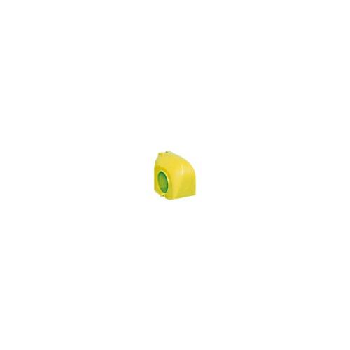 クランプカバー ハイカバー(硬質) イエロー 100個 アラオ
