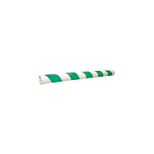 パイプガード(反射式) 30本 50φ×68φ×1,000L 緑/白 アラオ [送料無料]