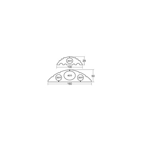 40φ (40φ×4m巻) アラオ コードプロテクター [送料無料]