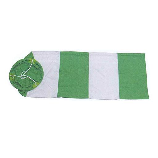 吹流し 10枚 緑/白 300φ×1200L アラオ [送料無料]