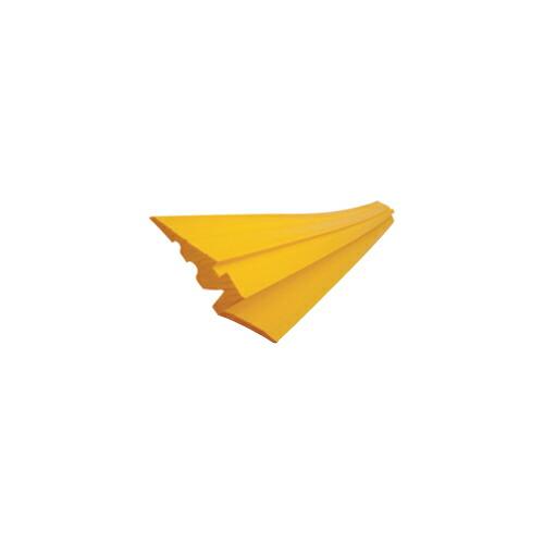 段差スロープA(敷き鉄板用) 4本 155W×1500L 黄 アラオ [送料無料]