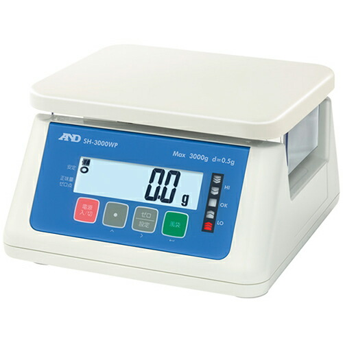 A&D製デジタル防水はかり W230×D190mm(計量皿寸法) SH-3000WP [送料無料]