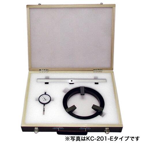 平面度検査器 圧縮型枠用 φ100mm×200mm専用型 KC-201-B [送料無料]