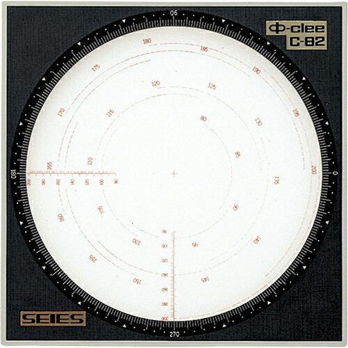 精密円定規(パイクリー) φ80~200mm用 C-82