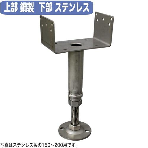 【送料無料】底板ステンレス 鋼製束 ツカエース U型タイプ YU-200 (30個入) コバッシャー【国産品】[基礎金物 床束]
