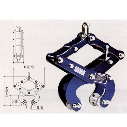 U字溝の吊上げ工具 マシンバイス NW-1300(2台1セット) サンキョウ・トレーディング[建築土木機材] [送料無料]