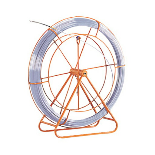 【本日特価】 管内用通線工具 シルバーグラスライン(線径φ9mm 長さ100m) GL-0910RS ジェフコム[フレーム付 FRP製/PP被覆タイプ DENSAN] [送料無料], メガネ工場 78d2fc9d