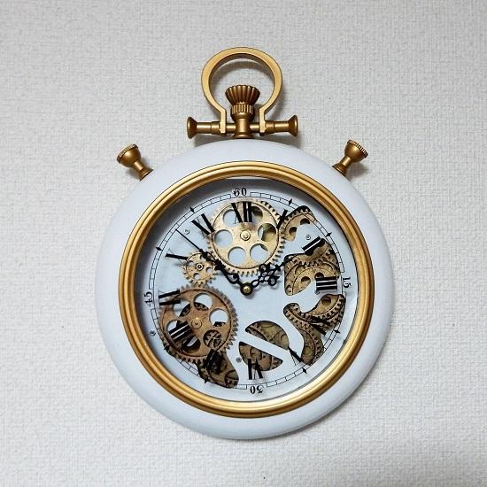 インテリアクロック 掛け時計 懐中時計スタイル 高さ38cm 使用乾電池のオマケ付き 送料無料