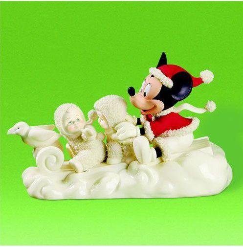 アメリカ DP56社 天使の様に優しい表情の陶器のお人形・フィギュア スノーベビー・ディズニー 【A magical Sleigh Ride】 送料無料