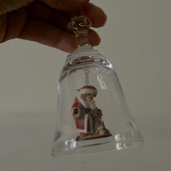 クリスマス DOLFI社製 イタリア DOLFI社製 クリスタルガラス ディナーベル ディナーベル サンタと子犬 高さ17cm クリスマス 送料無料, 九谷焼 ほんだ:f67bf2f4 --- sunward.msk.ru