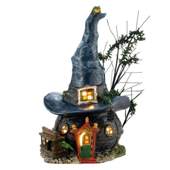 ハロウィン ハロウイン アメリカ DP56社 陶製のミニチュアハウス Snow Village Halloween Toads and Frogs Witchcraft Haunt Lit House 高さ24cm 送料無料