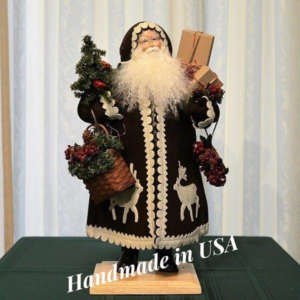 クリスマス ハンドメイド サンタクロース 人形 of 置物