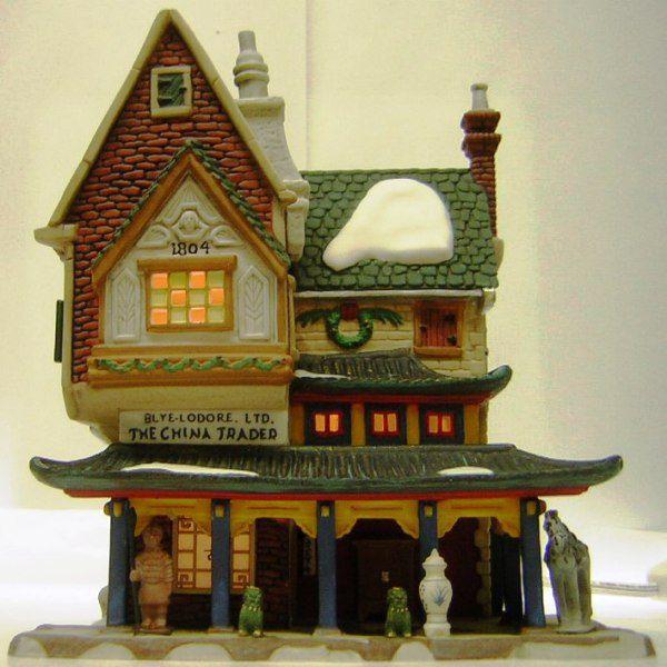 クリスマス 置物 オーナメント アメリカ DP56社 陶器製ミニチュアビルディング The China Trader 高さ18cm  送料無料